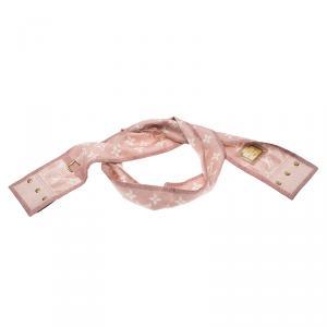 Louis Vuitton Pink Monogram Denim Print Silk Bandeau