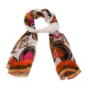 Louis Vuitton Multicolor Printed Silk Scarf