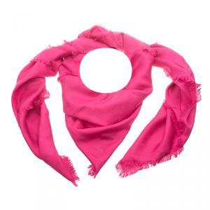 Louis Vuitton Pink Monogram Silk Shawl