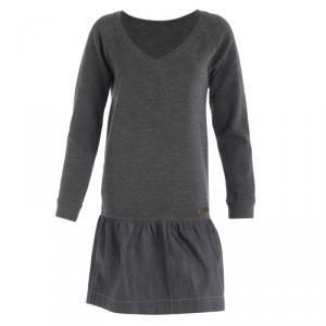 Louis Vuitton Grey Denim Long Sleeve Knit Dress XS