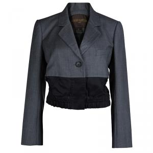 Louis Vuitton Grey Colorblock Elasticized Waist Detail Blazer M