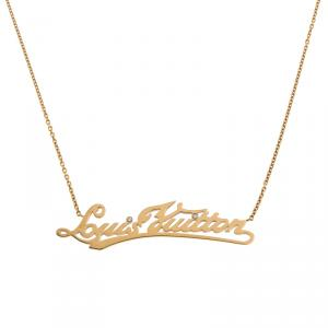 Louis Vuitton Signature Diamond Gold Necklace