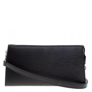 Louis Vuitton Black Epi Leather Pochette Accessories