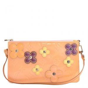 Louis Vuitton Baby Pink Monogram Vernis Lexington Fleurs Accessories Pochette