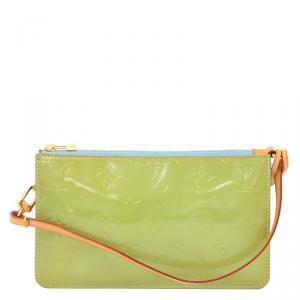 Louis Vuitton Vert Impression Monogram Vernis Lexington Pochette Bag