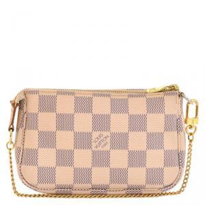 Louis Vuitton Damier Azur Canvas Mini Pochette Accessories Bag