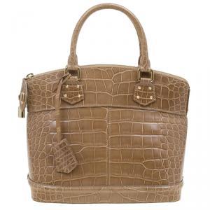 Louis Vuitton Brown Crocodile Limited Edition Lockit PM Bag