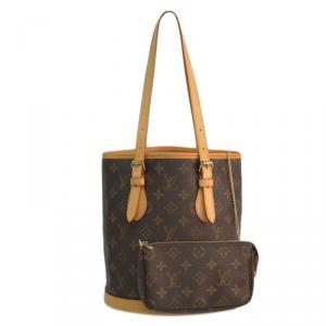 Louis Vuitton Monogram Canvas Petit Bucket Bag with Accessory Pouch