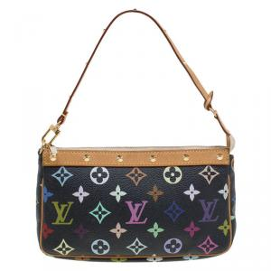 Louis Vuitton Black Multicolor Monogram Canvas Pochette Accessories
