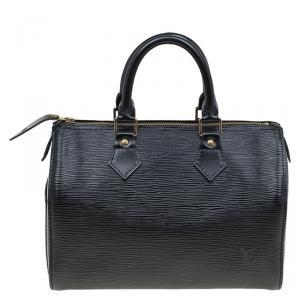 حقيبة لوي فيتون سبيدي جلد أيبي سوداء 25