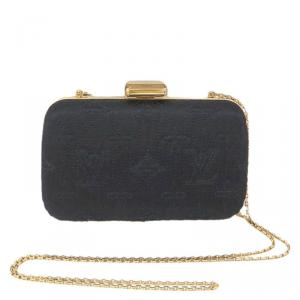 Louis Vuitton Noir Monogram Minaudiere Limited Edition Motard Clutch Bag