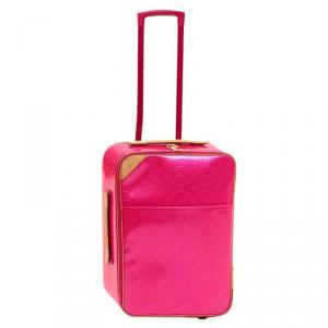 Louis Vuitton Rose Pop Monogram Vernis Pegase 55 Suitcase