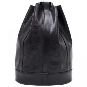 Louis Vuitton Noir Epi Leather Randonnee Backpack