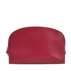 Louis Vuitton Fuschia Epi Leather Pochette Cosmetic Pouch