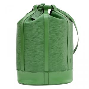 Louis Vuitton Borneo Green Epi Leather Randonnee Backpack GM