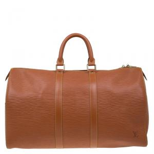 Louis Vuitton Cipango Gold Epi Leather Keepall 45