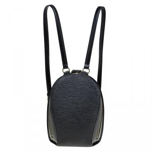 Louis Vuitton Black Epi Leather Mabillon Backpack Bag
