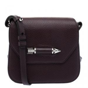 Mackage Burgundy Leather Mini Novaki Crossbody Bag