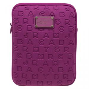 Marc by Marc Jacobs Pink Fabric Vertical Dreamy Logo Laptop Case