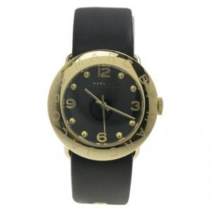 Marc by Marc Jacobs Black PVD Gold Plated Stainless Steel Amy MBM1154 Women's Wristwatch 36MM