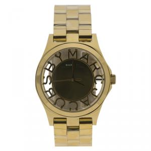 Marc By Marc Jacobs Gold Tone Stainless Steel MBM3206 Women's Wristwatch 40MM