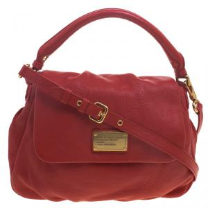 Marc by Marc Jacobs Red Leather Classic Q Lil Ukita Satchel