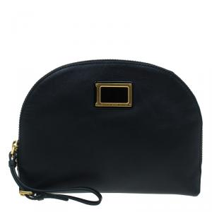 Marc by Marc Jacobs Black Leather Cosmetic Pouch
