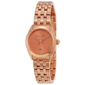 Marc by Marc Jacobs Rose Gold Gold-Plated Stainless Steel MBM3377 Women's Wristwatch 26MM
