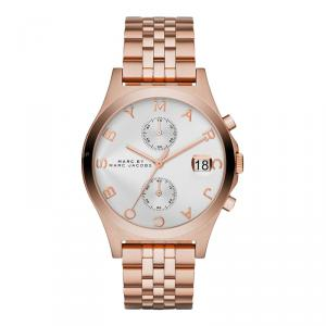 Marc by Marc Jacobs Silver Gold-Plated Stainless Steel MBM3380 Women's Wristwatch 38MM