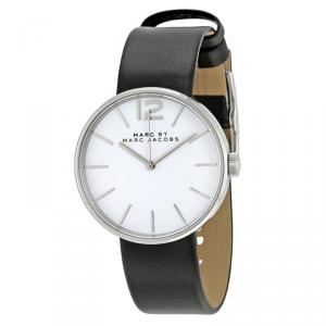 Marc by Marc Jacobs White Stainless Steel MBM1365 Women's Wristwatch 36MM