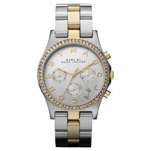 Marc by Marc Jacobs Silver Gold & Silver-Plated Stainless Steel MBM3197 Women's Wristwatch 40MM