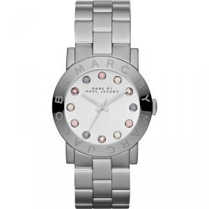 Marc by Marc Jacobs White Stainless Steel MBM3214 Women's Wristwach 36MM