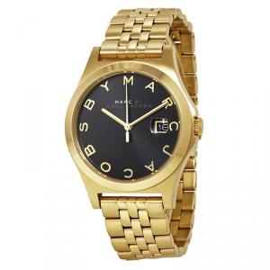 Marc by Marc Jacobs Black Gold-Plated Stainless Steel MBM3315 Women's Wristwatch 36MM