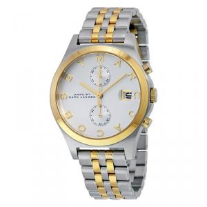 Marc by Marc Jacobs White Two-Tone Stainless Steel MBM3381 Women's Wristwatch 38MM