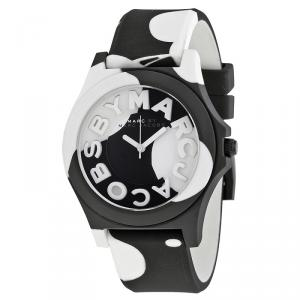 Marc by Marc Jacobs Black & White Stainless Steel MBM4027 Women's Wristwatch 40MM