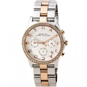 Marc by Marc Jacobs Silver Gold & Silver-Plated Stainless Steel MBM3106-2 Women's Wristwatch 40MM