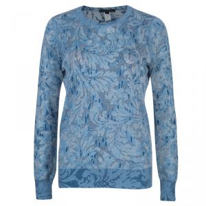 Marc Jacobs Blue Metallic Sweater S