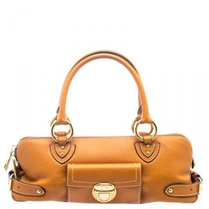 Marc Jacobs Orange Leather Elise Satchel