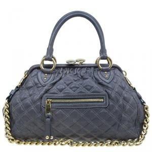Marc Jacobs Grey Quilted Leather Stam Shoulder Bag