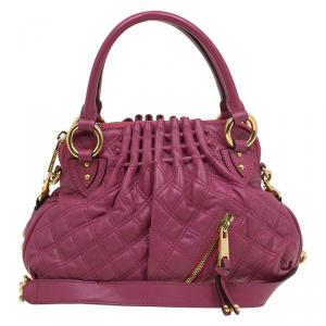 Marc Jacobs Burgundy Quilted Leather Cecilia Satchel