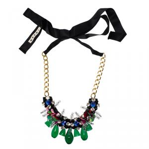 Marni Multicolored Beads and Crystals Necklace