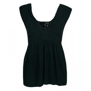 Marni Black Silk Sleeveless Top S