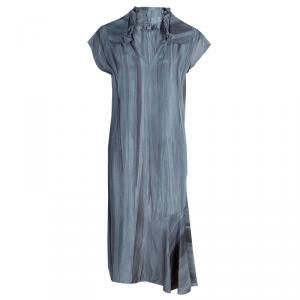 Marni Grey Printed Silk Dress M