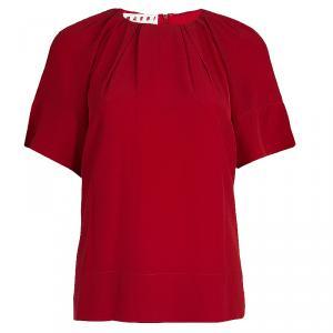 Marni Red Silk Top S