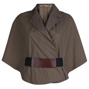 Marni Khaki Cotton Kimono Sleeve Jacket S