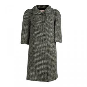 Marni Green Tweed Duster Coat M