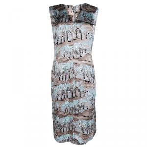 Marni Multicolor Printed Sleeveless Shift Dress M