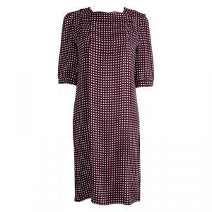 Marni Checkered Print Short Sleeve Shift Dress M