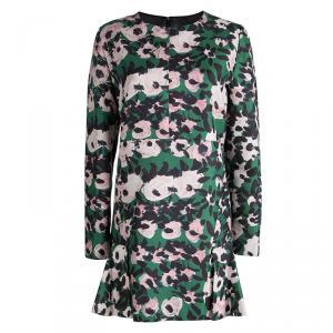 Marni Green Floral Print Long Sleeve Dress M