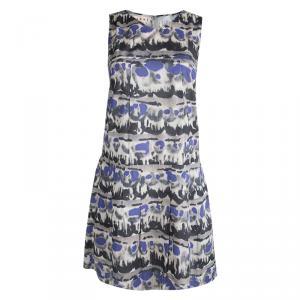 Marni Multicolor Printed Cotton Sleeveless Dress S